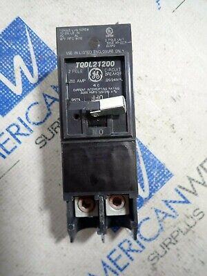 GE TQD22125 Bolt-On Mount Type TQD Molded Case Circuit Breaker 2-Pole 125 Amp 120//240 Volt AC