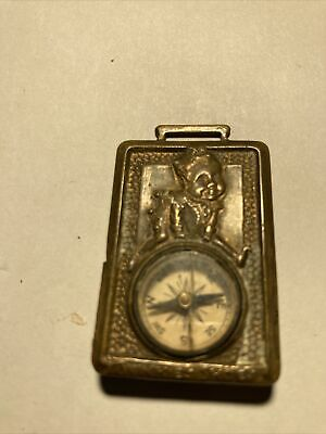 OLD TWINKIES HAPPY Shoes HAMILTON BROWN SHOE Co COMPASS BRASS POCKET WATCH FOB