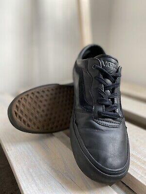 VANS black leather men's trainers size UK 9 EU 43