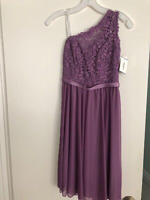 Short One Corded Lace Dress - Color Wisteria - Size 0 - Wisteria Color Dress
