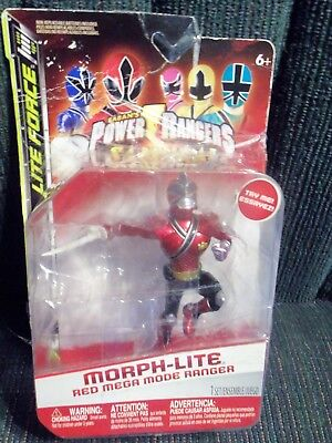 (POWER RANGERS Morph-Lite Red Mega Mode Ranger Lights Up! In Package FREE SHIP!! )