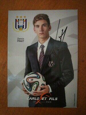 Dennis Praet Carte Postale Dédicacée RSC Anderlecht
