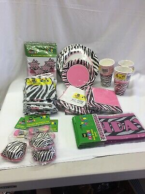 Zebra Fun Zebra Passion Hot Pink Party Supplies Decorations Zebra Print Party - Zebra Party Decorations