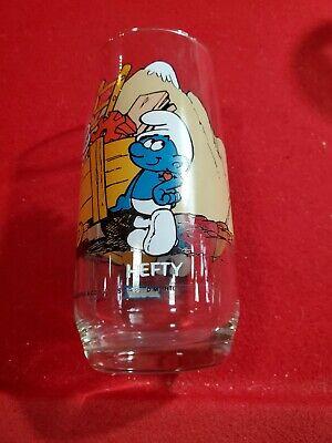 McDonald's Vintage Smurfs Drinking Glass: Hefty