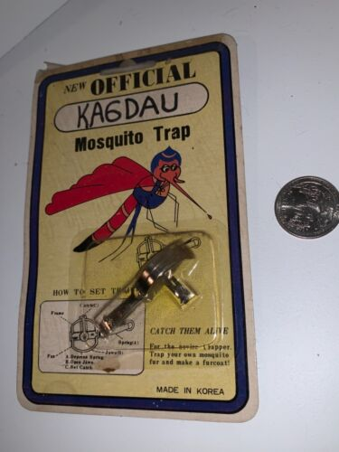 """Vintage Official MOSQUITO Trap KAGDAU  """"Catch Them Alive"""" Novelty Gift FREE SHIP"""