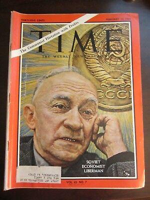 - Time Magazine February 1965 Soviet Economist Liberman (G)