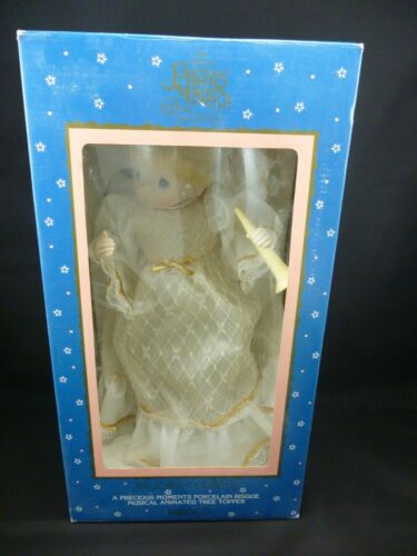 """ENESCO PRECIOUS MOMENTS TREE TOPPER MUSICAL ANIMATED MINT IN BOX 13"""""""