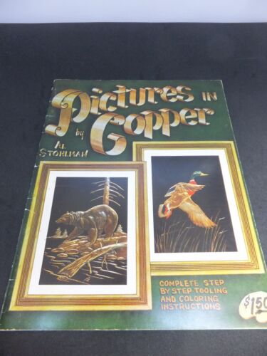 Vintage Leather Book-Pictures In Copper By Al Stohlman.