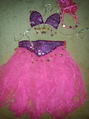 Bauchtänzerin Bauchtanzkleid pink Karnevalskostüm Kindergröße Orient Prinzessin
