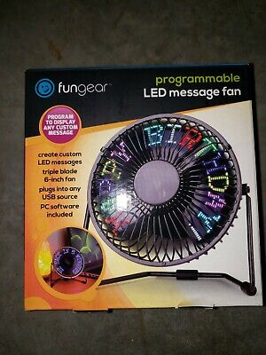 Led-message-fan (FUNGEAR Programmable LED Message Fan w/USB Cable & PC Software Included - NEW!)