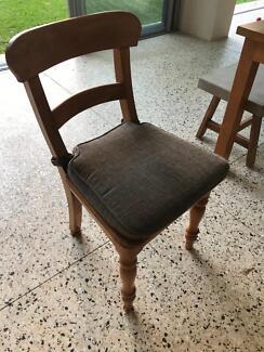 7 x Teak wood chairs