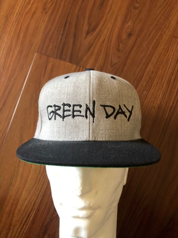 Green Day Punk Band Gray Yuupong Wool Blend Snapback Hat Cap NWOT