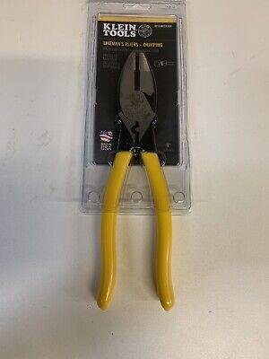 Klein Tools D213-9necr Linemans Crimping Pliers 9-inch