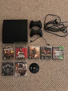 *** PS3 with two controllers and games ***