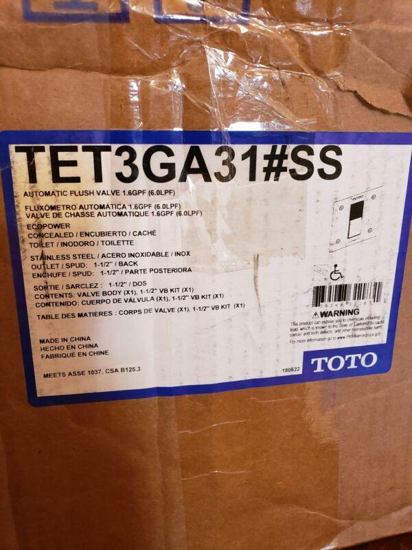 Toto TET3GA31#SS Automatic Flush Valve Ecopower 1.6GPF