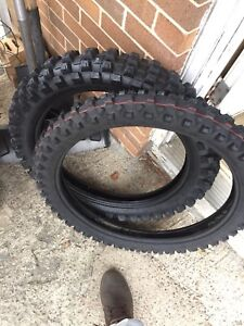Brand new dirt bike tires! need gone! $150 both(front & rear)