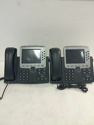 2x Cisco Cp-7975g Business Telephone Wheadset Working Free Shipping