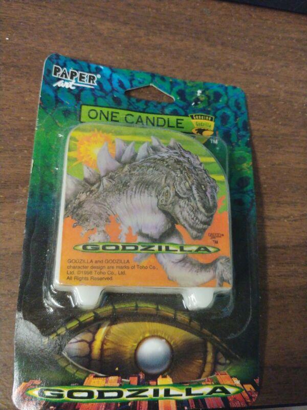 Godzilla Candle Movie Classic Toho Kaiju Film Monster Birthday Candle Vtg 1998
