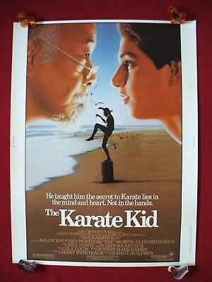 THE KARATE KID * 1984 ORIGINAL MOVIE POSTER 30x40 MR. MIYAGI COBRA KAI - The Halloween Kid Movie
