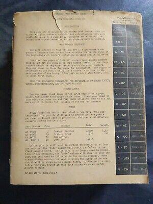 John Deere 1971 Master Parts Index