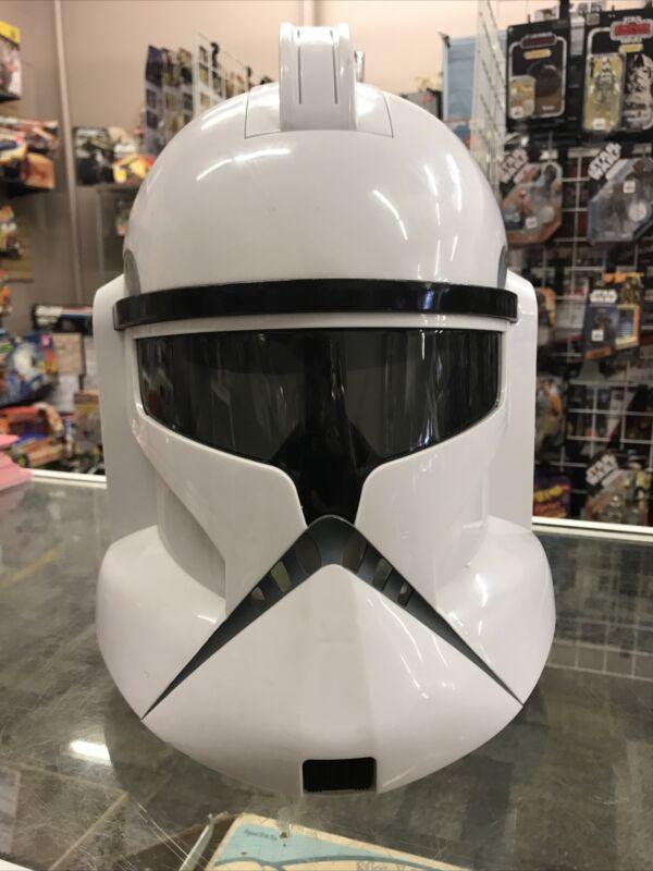 Star Wars Clone Storm Trooper Talking Voice Changer Helmet Hasbro 2008 - READ