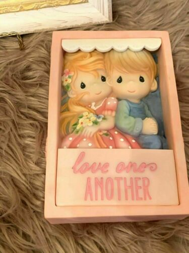 """Precious Moments - Love One Another Shadow Box Figure. Condition is """"New""""., In G"""