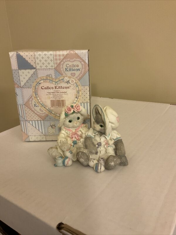 "Calico Kittens ""You Make Life Colorful"" #102601 Patricia Hillman 1994 Figurine"