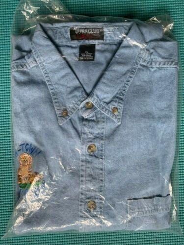 Very Rare Cherished Teddies X-Large Blue Jean Denim Shirt Pristine L👀K ❤