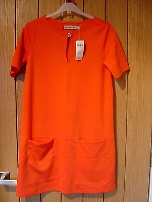 Abercrombie & Fitch Red Jumper Dress Size XS NEW (tags) RRP £58...
