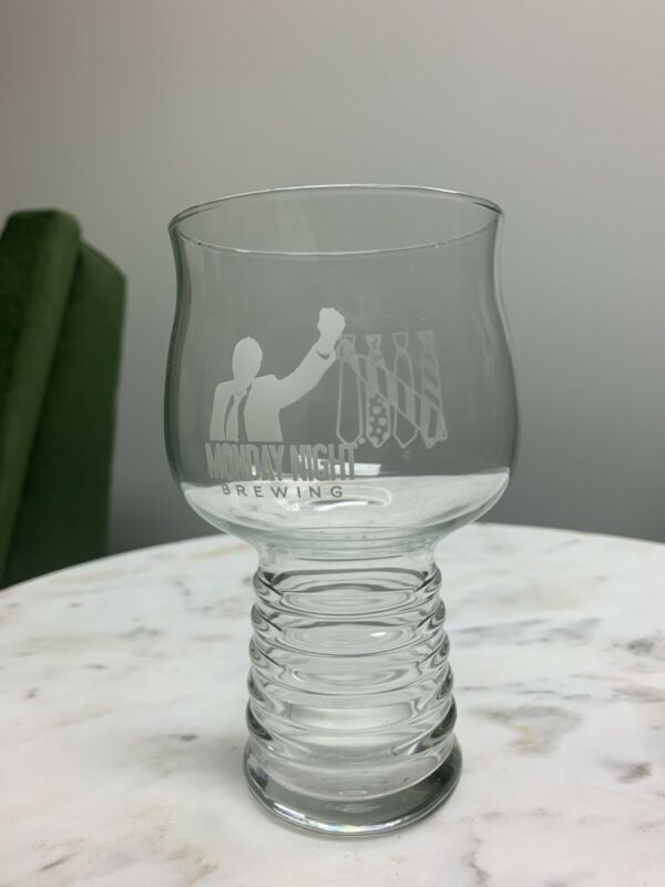 Monday Night Brewing Company Five Ties Stemmed Beer Glass