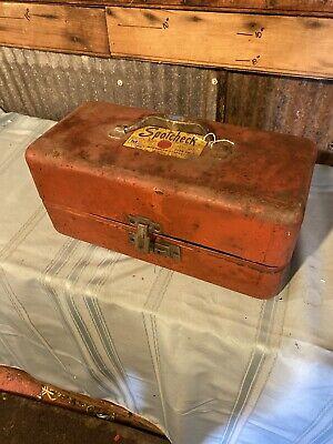 Vintage Magnaflux Spotcheck Kit Sk3 Dye Penetrant Kit Metal Red Box Paper Work