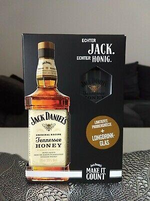 Jack Daniel´s Honey mid Size (350ml x 35% Abv) mit Longdrinkglass Set