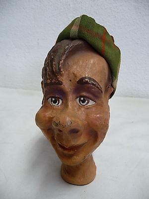Große Kasperpuppe Handpuppe Marionette Puppentheater Pappmaschee Kopf uralt  (2)