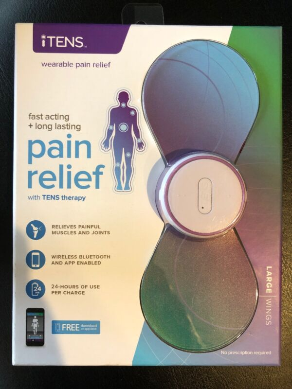iTens Wireless Electrotherapy TENS Unit Pain Relief w Large Wings I Tens