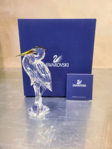 Excellent Condition Swarovski Silver Heron With Box Item #221627