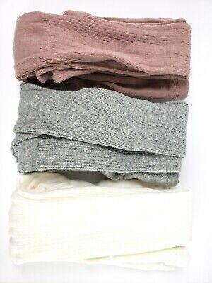 Knit Cotton Tights Dance Stocking Socks Pants Baby Toddler 1-2 Yrs (Pack of 3) Knitting Baby Socks