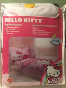 Hello Kitty Toddler Bed Set