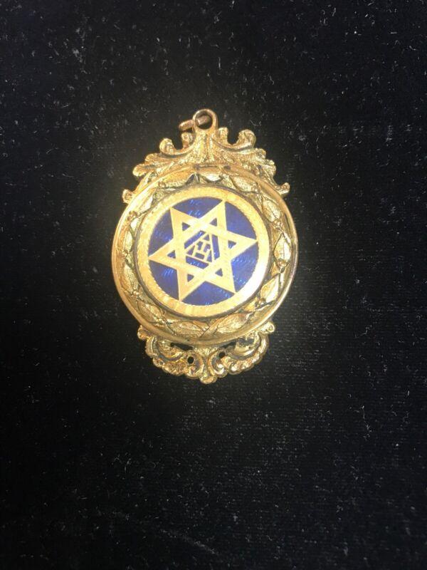 Fine Victorian Masonic Silver Gilt Royal Arch Medal Porcelain