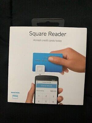 Square Credit Debit Card Reader White For Cellphones Tablets.