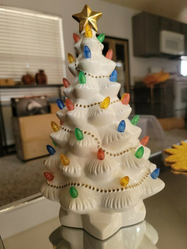 Lenox Porcelain Lighted Christmas Tree