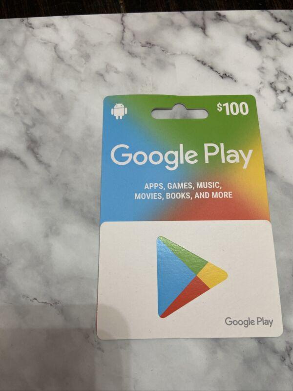 google play gift card 100