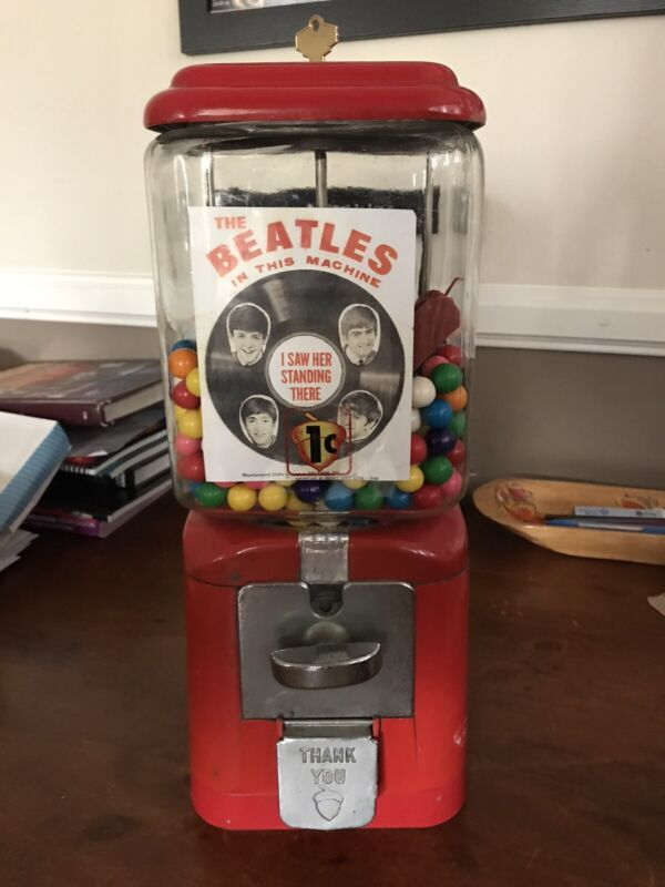 Beatles 1960's Gumball Machine W/ Prizes!!