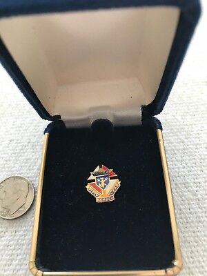 KNIGHTS OF COLUMBUS 50 YEAR MEMBER PIN (3rd) 10K Gold Filled NIB VINTAGE