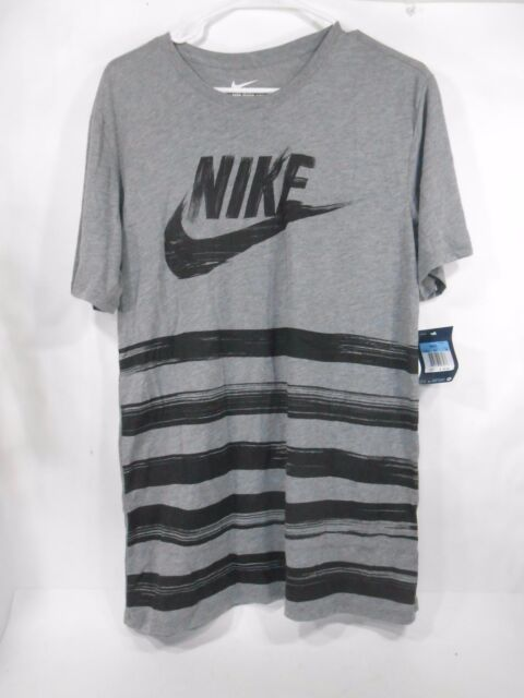 NIKE Men's Flow Motion Futura Tee Style:739609 091 Size: Med Grey Black