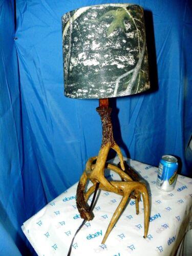 DEER ANTLER CAMO LAMP HUNTING LODGE DECOR