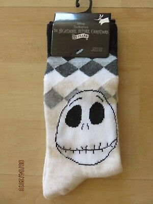 Used, Disney Jack Skellington Crew Socks Shoes 4-10 25th Nightmare Before Christmas for sale  Norco