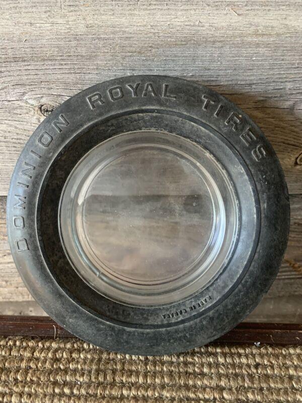 Vintage Tire Ashtray Dominion Royal Tires Ashtray