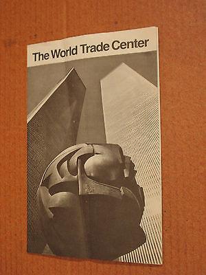 Vtg World Trade Center New York City Brochure Foldout  1975