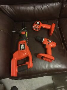 Black and decker 3 piece combo