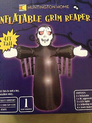 Halloween 4' Led Airblown Inflatable Grim Reaper Yard Decoration